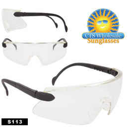 Safety Glasses ~ Clear Lens ~ S113 (12 pcs.) Adjustable Arms