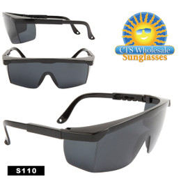 Safety Glasses ~ Tinted Lens ~ S110 Adjustable Arms (12 pcs.)