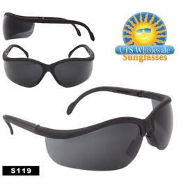 Safety Glasses ~ Tinted Lens ~ S119 Adjustable Arms (12 pcs.)