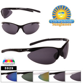 Men's Polarized Sunglasses by the Dozen - Style #5929 (Assorted Colors) (12 pcs.)