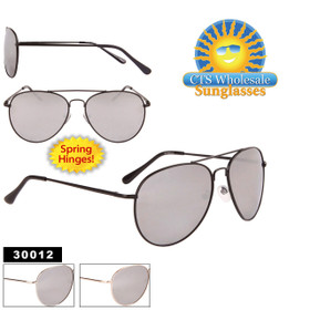 Mirrored Aviators - Style #30012 Spring Hinge (Assorted Colors) (12 pcs.)