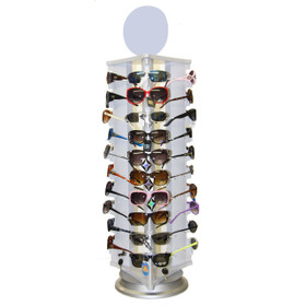 Rotating ~ Locking ~ Counter Top Sunglass Display 7044 (1 pc.) Holds 30 Pair