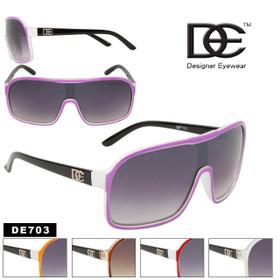 Wholesale Unisex Sunglasses DE703 Designer Eyewear™ (Assorted Colors) (12 pcs.)