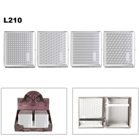 Wholesale Cigarette Cases L210 (12 pcs.) Assorted Chrome Patterns
