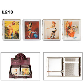 Wholesale Cigarette Cases L213 (12 pcs.) Assorted Pin Up Girls