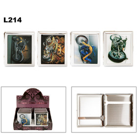 Cigarette Cases L214 (12 pcs.) Assorted Motorcycles