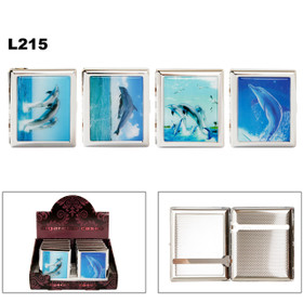 Cigarette Cases L215 (12 pcs.) Assorted Dolphins