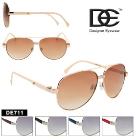 DE™ Aviator Sunglasses by the Dozen - Style #DE711 (Assorted Colors) (12 pcs.)