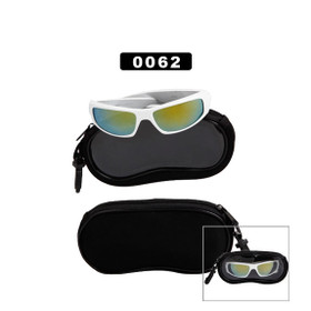 Black Soft Case With a Clear Window 0062 (12 pcs.) Sunglasses Not Included!
