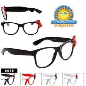 Wholesale Nerd Girl Glasses - 6015 (Assorted Colors) (12 pcs.)
