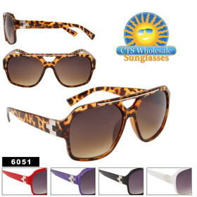 Wholesale Unisex Sunglasses 6051 (Assorted Colors) (12 pcs.)