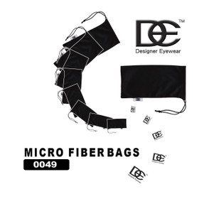 DE Micro Fiber Bags ~ Great for cleaning & storing sunglasses! 0049 (12 pcs.)