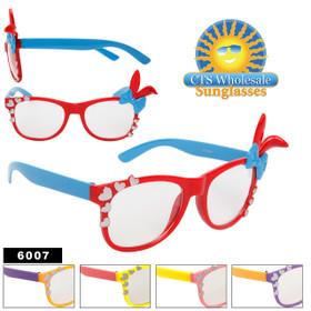 Clear Sunglasses 6007 California Classics with Bunny Ears & Hearts! (Assorted Colors) (12 pcs.)