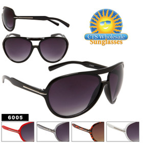 Wholesale Aviator Sunglasses 6005 (Assorted Colors) (12 pcs.)