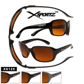Xsportz Sunglasses XS125 Blocks Blue Light (Assorted Colors) (12 pcs.)