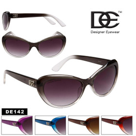 Designer Eyewear™ DE142 Cat Eye Sunglasses (Assorted Colors) (12 pcs.)