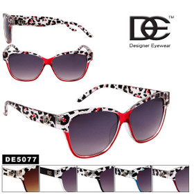 DE™ Fashion Sunglasses- Style # DE5077 Animal Print (Assorted Colors) (12 pcs.)