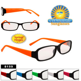 Clear Wholesale sunglasses Style # 8159 (Assorted Colors) (12 pcs.)