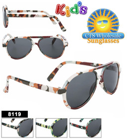Kid's Aviator Sunglasses Wholesale Style #8119
