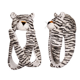 Wholesale White Tiger with Long Arms Animal Hat  A112 (1 pc.)
