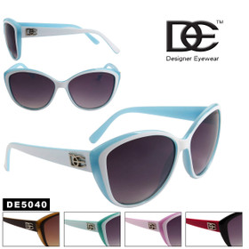 Wholesale DE™ Cat Eye Sunglasses- Style # DE5040 (Assorted Colors) (12 pcs.)