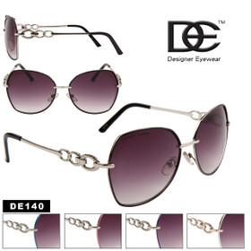 Designer Eyewear Fashion Sunglasses by the Dozen - Style # DE140 (Assorted Colors) (12 pcs.)