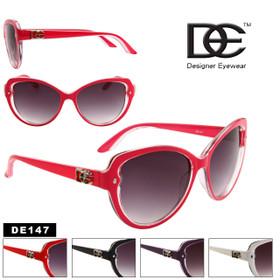 DE™ Cat Eye Fashion Sunglasses Style # DE147 (Assorted Colors) (12 pcs.)
