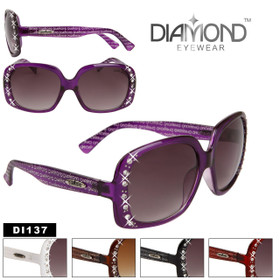 Diamond™ Eyewear Rhinestone Sunglasses by the Dozen - Style # DI137 (Assorted Colors) (12 pcs.)
