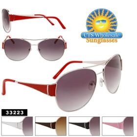 Aviator Sunglasses Wholesale - Style # 33223 (Assorted Colors) (12 pcs.)