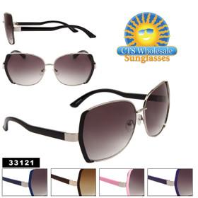 Fashion Sunglasses Wholesale - Style # 33121 (Assorted Colors) (12 pcs.)