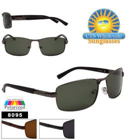Polarized Wholesale Sunglasses - Style #8095 (Assorted Colors) (12 pcs.)