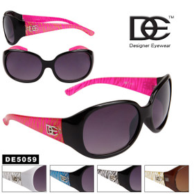 Women's Wholesale Designer Sunglasses - Style # DE5059 (Assorted Colors) (12 pcs.)