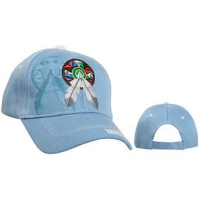 "Light Blue Wholesale Baseball Cap ""Dream Catcher"""