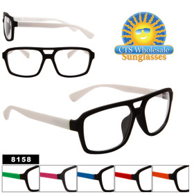 Wholesale Clear Sunglasses Style # 8158 (Assorted Colors) (12 pcs.)