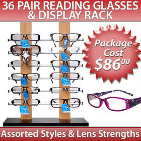 Wholesale Reading Glasses Package Deal ~ SPRD3 (7077+ 36 pcs.) (Assorted Styles)