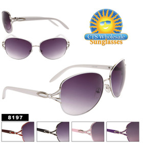 Wholesale Women's Sunglasses - 8197 (Assorted Colors) (12 pcs.)