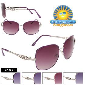Women's Wholesale Designer Sunglasses - 8196 (Assorted Colors) (12 pcs.)