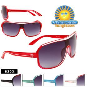 Wholesale Aviator Sunglasses - 8203 (Assorted Colors) (12 pcs.)