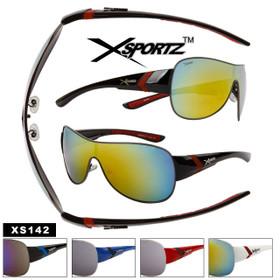 Bulk Mirrored Xsportz™Sunglasses - Style #XS142 (Assorted Colors) (12 pcs.)