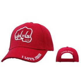 """Wholesale Baseball Cap C221 (1 pc.) """"John 3:16 I Love Jesus"""""""