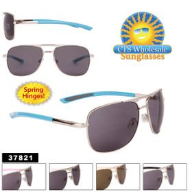 Wholesale Metal Square Aviators - Style #37821 (Assorted Colors) (12 pcs.)