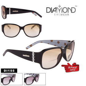 Wholesale Bi-Focal Diamond™ Eyewear Sunglasses - Style #DI155 Lens Strengths +1.00—+3.00 (Assorted Colors) (12 pcs.)