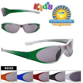 Spider Web Bulk Sunglasses For Kids - Style #9050 (Assorted Colors) (12 pcs.)