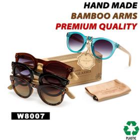 Hand Made Fashion Bamboo Wood Sunglasses - Style #W8007