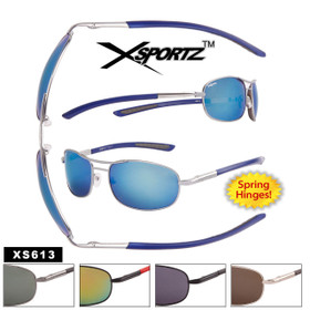 Men's Metal Xsportz ™ Sport Sunglasses  - Style #XS613 Spring Hinge (Assorted Colors) (12 pcs.)