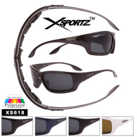 Men's Polarized Xsportz ™ Sunglasses - Style #XS618 Foam Padded (Assorted Colors) (12 pcs.)