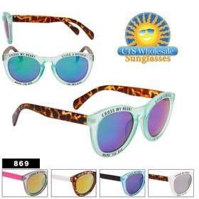 """Cross My Heart"" Fashion Sunglasses - Style #869 (Assorted Colors) (12 pcs.)"