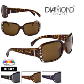 Diamond™ Eyewear Polarized Rhinestone Sunglasses - Style #DI607 (Assorted Colors) (12 pcs.)