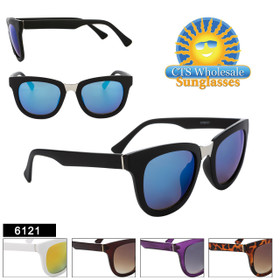 Retro Sunglasses - Style #6121 (Assorted Colors) (12 pcs.)