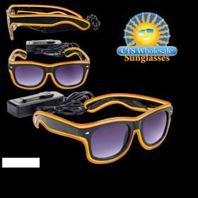 Orange & Yellow LED Sunglasses LS003 (1 pc.)